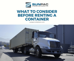 Storage Container on flat bed truck